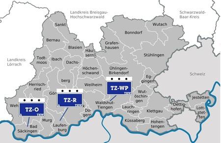 THW Ortsverbände im Landkreis Waldshut im Überblick